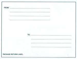INF-9875 Infecon Return Label