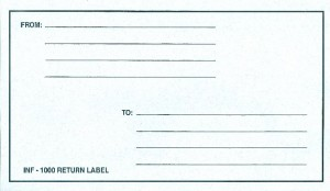 INF-9880 Infecon Return Label