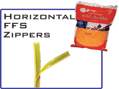 Horizontal Form Fill & Seal Zippers