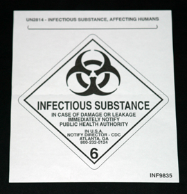 INF-9835 Infecon Infectious Substance Mini Label