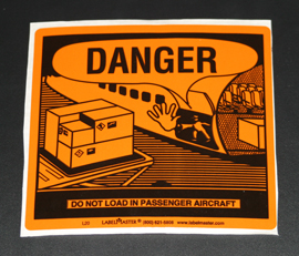 INF-9839 Infecon Cargo Aircraft Only Label