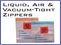 Liquid, Air & Vacuum-Tight Zippers